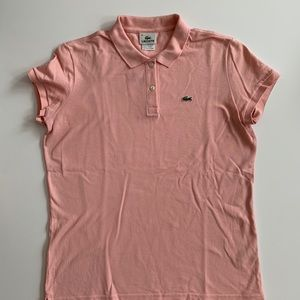 Lacoste pink polo- stretch